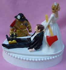 Firefighter Wedding Rings by Wedding Cake Topper Fireman Firefighter Fire Uniform Boots Axe