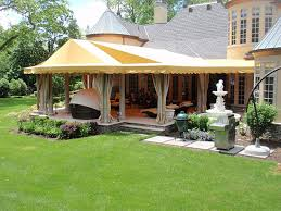 Patio Canopies And Gazebos by 45 Tent For Patio Sail Beige With White Strips Durable Uv Shelter