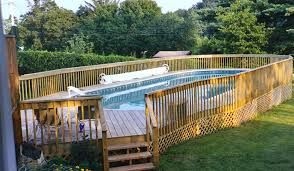 Above Ground Pool Design Ideas Oval Above Ground Pool With Deck Pools U0026 Backyards Pinterest