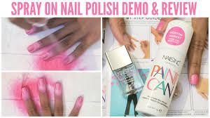 does it work nails inc u0027paint can u0027 spray on nail polish demo
