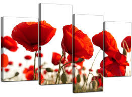 tapestries home decor home garden extra large floral flowers red poppy canvas wall art xl pictures 4056