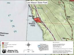 Whitefish Montana Map by Les Mason State Park Maplets