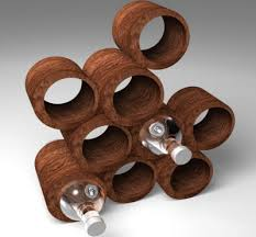 cool wine gifts crafted wine rack fits into the one concept of post