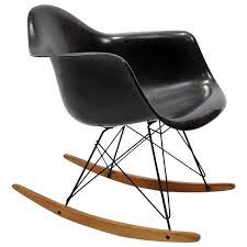 Eames Fiberglass Rocking Chair Charles And Ray Eames Rar Rocking Chair At 1stdibs