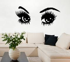 compare prices on eyes wall decal online shopping buy low price wall decals girl eyes beauty salon vinyl decal sticker murals art decor china mainland