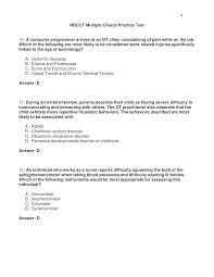nbcot multiple choice practice test page 4 occupational therapy