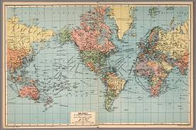 Mercator World Map by World On Mercator U0027s Projection David Rumsey Historical Map