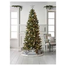 martha stewart living 6 ft pre lit led snowy brown artificial