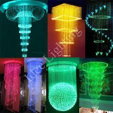 Diy Led Chandelier Led Fiber Optic Pendant Chandelier For Decoration Buy