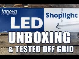 led garage lights costco costco led shop light unboxing and tested off grid youtube