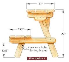 amazing free picnic table plans free step step shed plans within