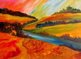 painting abstract landscapes design