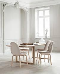 diningroom with beautiful wallpaneling u0026 scandinavian style