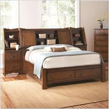 king storage bed with bookcase headboard beds home design