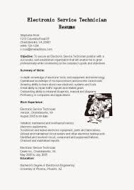 Electronic Engineering Resume Sample by Electronic Technician Resume Resume For Your Job Application