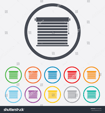 louvers sign icon window blinds jalousie stock vector 210104485
