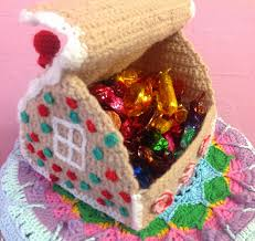 The Basic House by Yarn On Yarn Off Crochet Gingerbread House Box