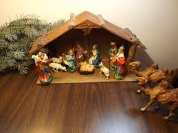 italian antique nativity set christmas
