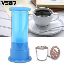 machine à café de bureau en plastique à la pression capsule machine à café avec 2 pcs