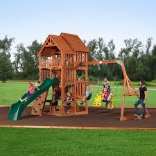 cedar swing sets backyard discovery monticello cedar swing set