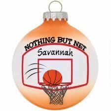 personalized basketball ornament year can by put on the back for