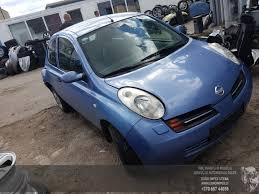 blue nissan micra nissan micra naudotos automobiliu dalys naudotos dalys