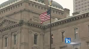 Indiana Flags At Half Staff Indiana Gop Senate Candidates Square Off In Raucous Debate