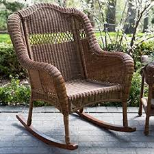 Outdoor Patio Rocking Chairs Amazon Com Coral Coast Casco Bay Resin Wicker Rocking Chair
