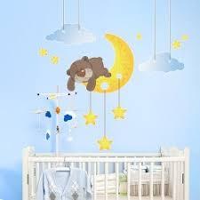 déco originale chambre bébé stickers chambre bébé pour un éveil apaisé et souriant