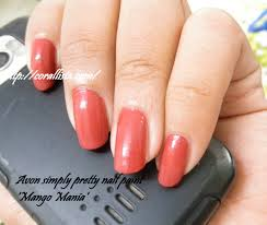 nail of the day avon simply pretty nail paint u0027mango mania