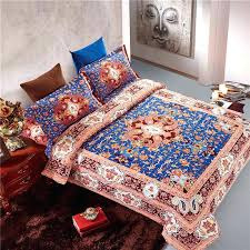 Duvet Covers Brown And Blue Bohemian Style Quilts U2013 Co Nnect Me