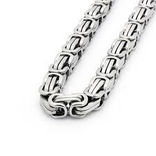 metal chain link bracelet images Mens 8 5 quot stainless steel silver box byzantine chain link bracelet jpg