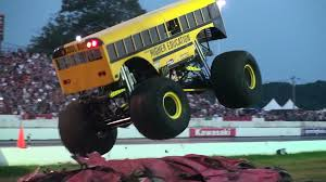 bigfoot monster truck youtube bus monster truck racing iron outlaw youtube