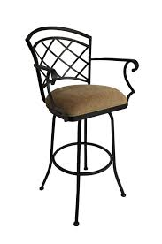 Swivel Bar Stool With Arms Callee Baldwin Swivel Stool W Lattice Style Back Free Shipping