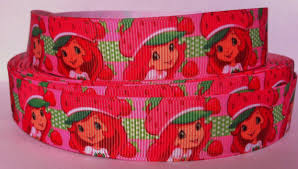 strawberry shortcake ribbon 5 yards strawberry shortcake ribbon 7 8 printed grosgrain ribbon