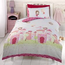 girls castle bed pink green princess fairy castle bedding crib toddler twin or full