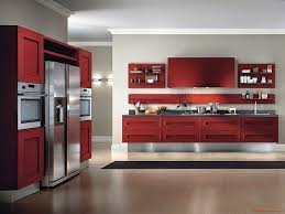 New Design Kitchen Cabinet Red And White Kitchen Decorating Ideas Outofhome