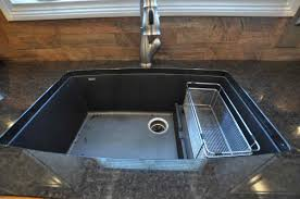 granite composite sink vs stainless steel simple kitchen with granite composite countertops ideas black