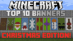 minecraft top 10 christmas banner designs with tutorial youtube
