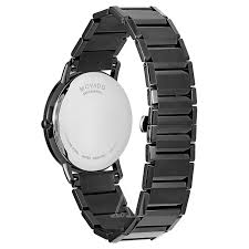 black bracelet mens watches images Movado sapphire 0606882 jpg