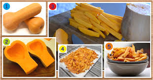 courge cuisiner recette de frites santé et minceur de courge butternut maigrir