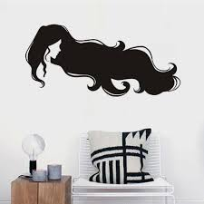 high quality hair wallpaper buy cheap hair wallpaper lots from long hair beauty vinyl wall stickers for hairstyle beauty shop wall decor self adhesive wallpaper home