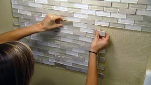 stick on backsplash tiles for kitchen installing a tile backsplash a self adhesive mat today s