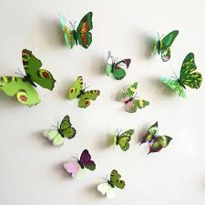 amazon com elecmotive 12 pcs yellow 12 pcs green 3d butterfly amazon com elecmotive 12 pcs yellow 12 pcs green 3d butterfly stickers random mixed packing home decoration diy removable 3d vivid special man made