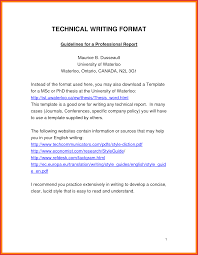 technical report word template inspirational a professional report latter