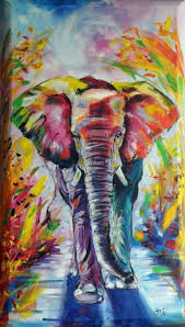 colorful elephant x 40 cm on canvas acrylic painting by kovács anna brigitta on artfinder discover thousands of other original paintings prints