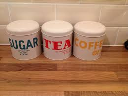 style kitchen canisters retro style kitchen canisters 6 each in tesco them