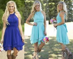 country style bridesmaid dresses 2016 sale country style turquoise bridesmaid dresses crew neck