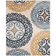 Teal And Gold Rug 8 X 10 Rectangle Multi Colored Outdoor Rugs Rugs The