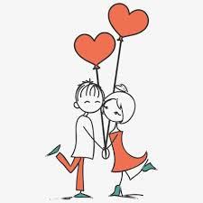 imagenes en jpg de amor pintado a mano de par pareja de dibujos animados amor red love